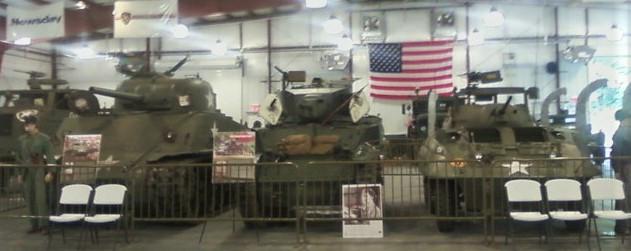Tanks inside museum