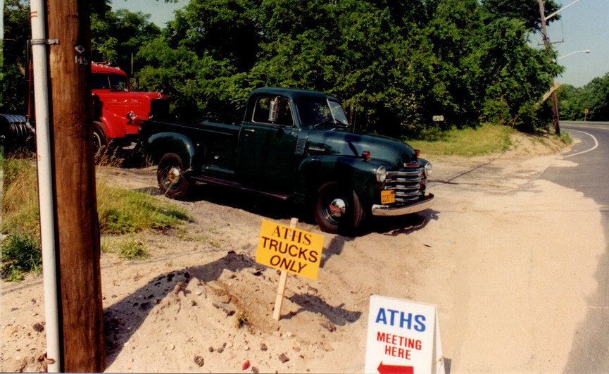 Member's trucks at the first stop - Ron Bush's Farming Museum in Brookhaven