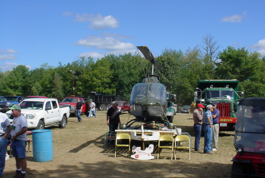 There was even a helicopter on display