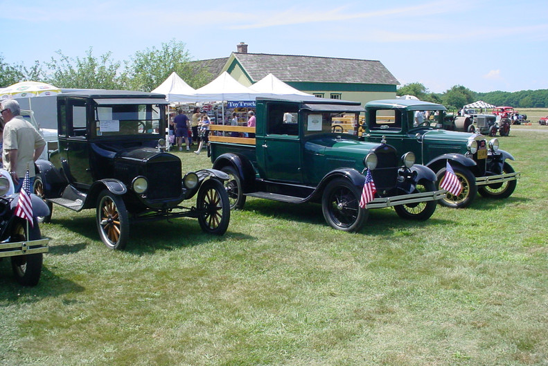 Line up of Fords