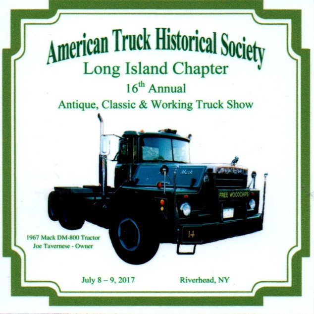 2017 Chapter Truck Show Dash Plaque 26 Remaining -.50ea.