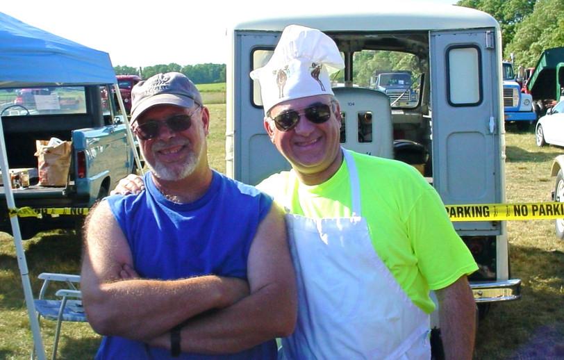Head barbecuers Ron Bruschi & Phil Kenter