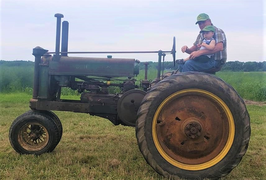 Never to young to learn to drive a tractor