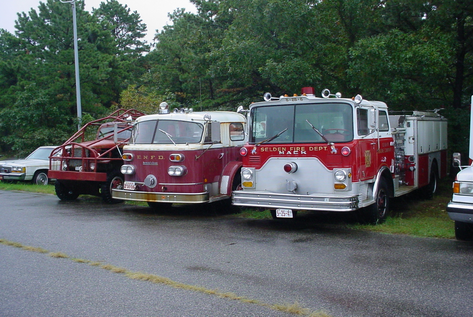 Former trucks from Selden, East Northport & Yaphank F.D's