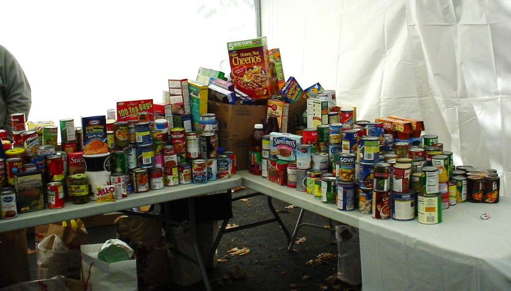 Some of the food collected