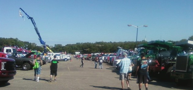 View of the show field looking south