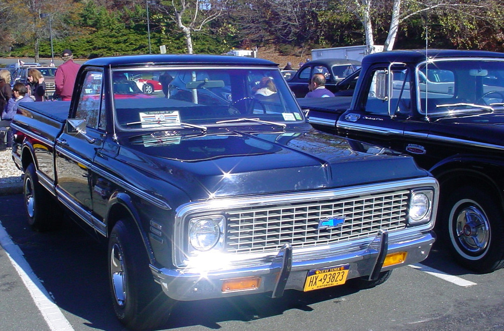 Glen Gray's 1972 Chevrolet pickup & Brent Robedee's 1965 Ford pickup