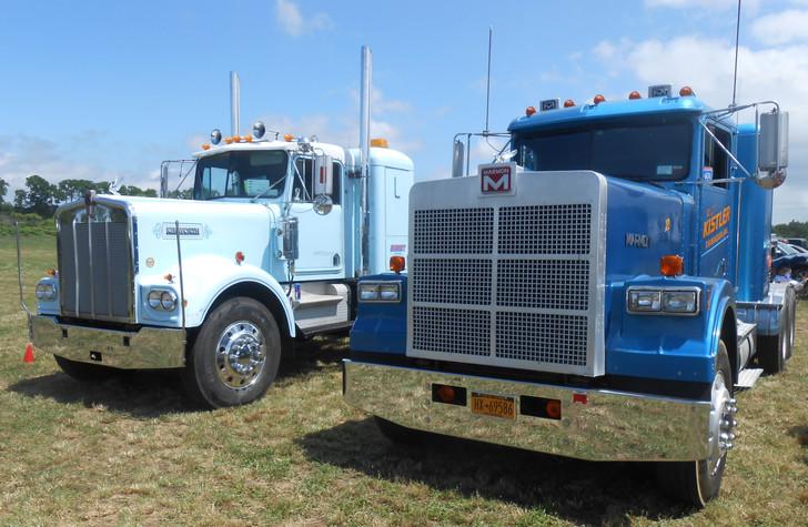 1979 Kenworth tractor - Ed Perscio & 1989 Marmon tractor - George Fiebe