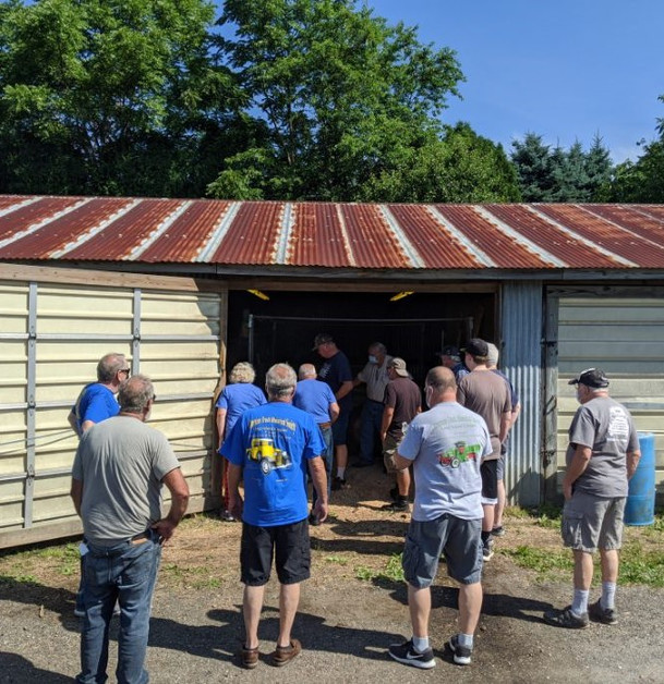Members & guests entering the sawmill shed