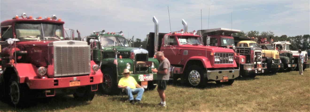 Show trucks in a row