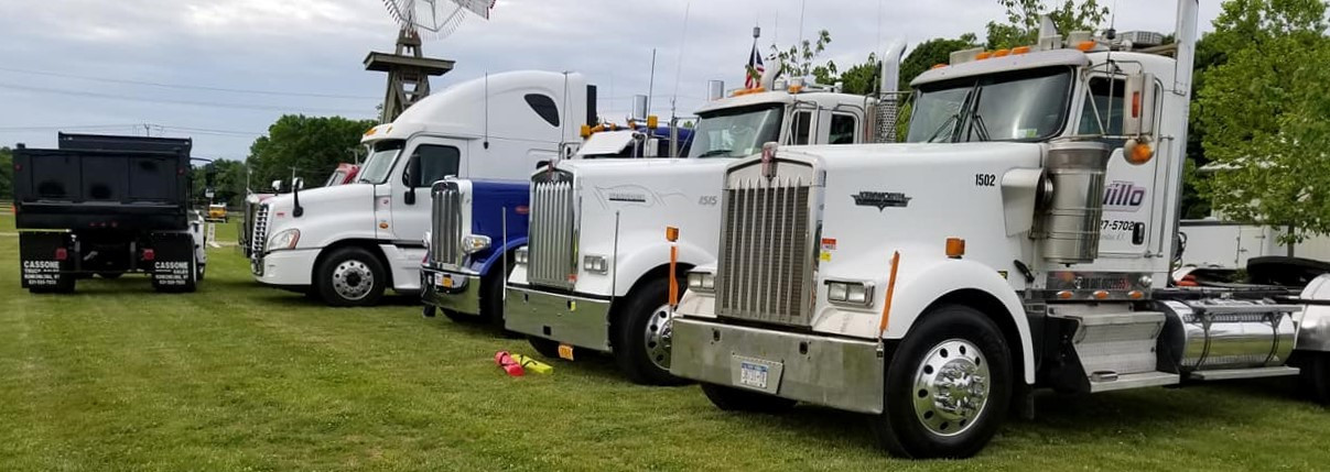 Lineup of Big Rigs