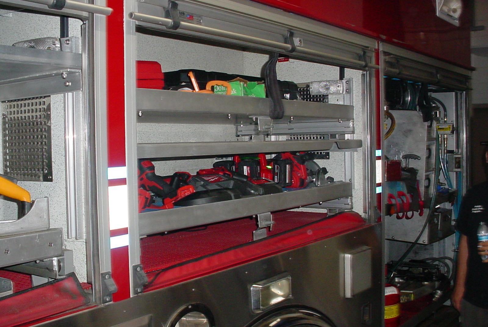 Equipment on Smithtown F.D. Engine