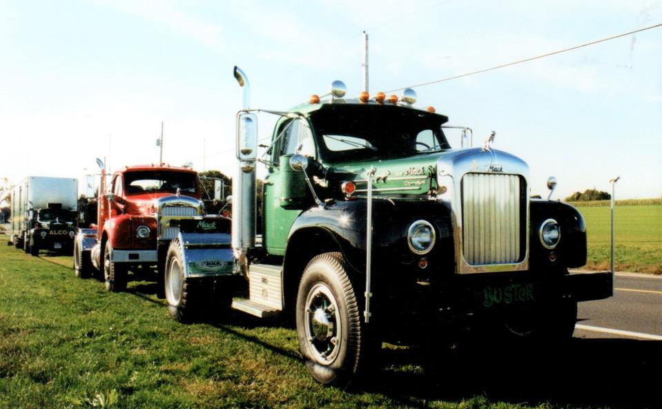 Three B Model Macks - Bob Boerner's '58, Howard Pratt's '58 & Tony Guarnaschelli's '64