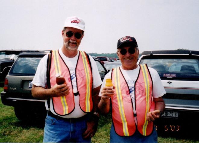 Bob Fraser & Peter Esteve parking cars