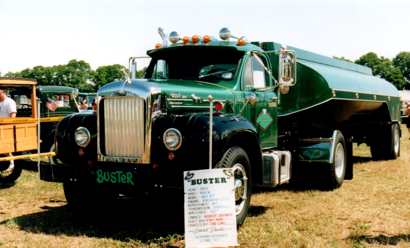 Featured truck - 1958 Mack B-61 & 1958 Heil tank trailer - Bob Boerner