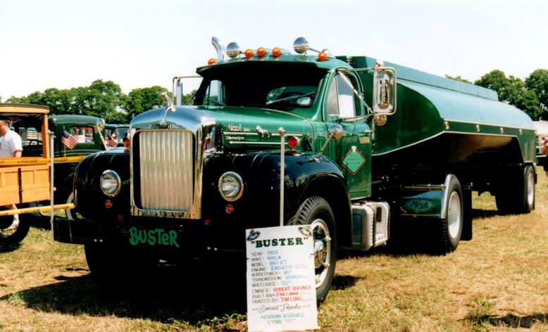 Featured truck - 1958 Mack B-61 & 1958 Heil tank trailer - Bob Boerner