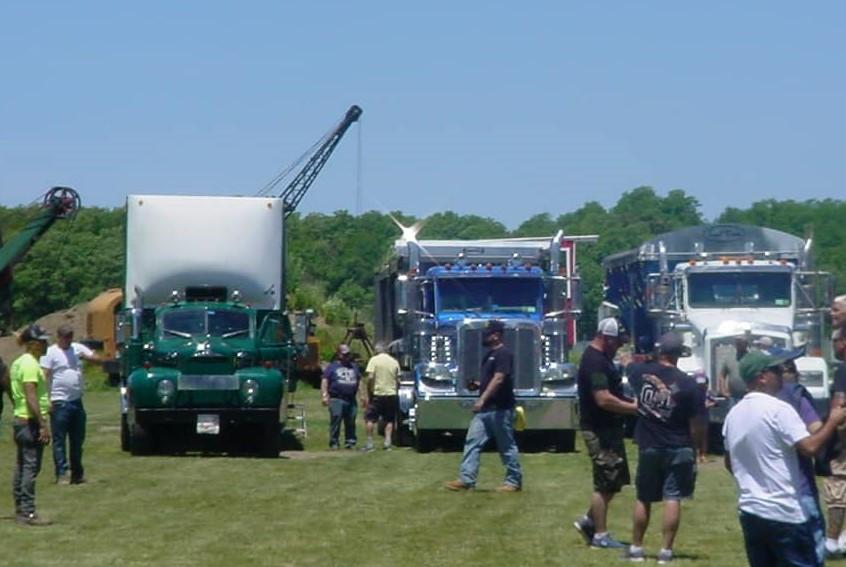 New & old trucks on display