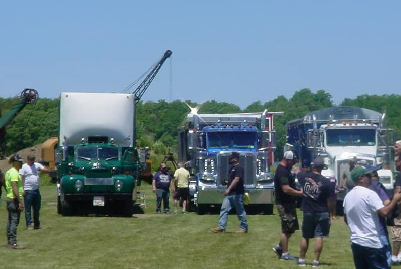 New & old trucks on display
