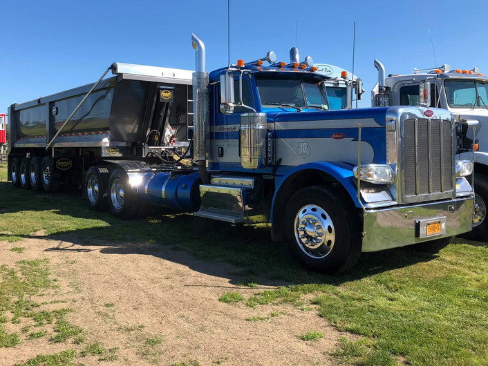 Peterbilt  with a dump trailer