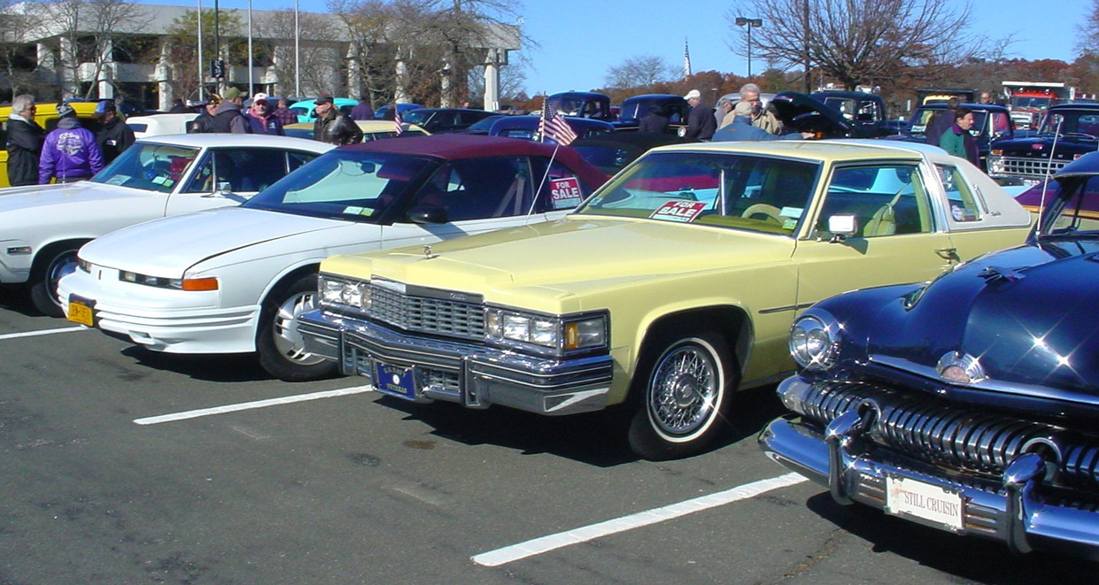 Many different years of cars at the show
