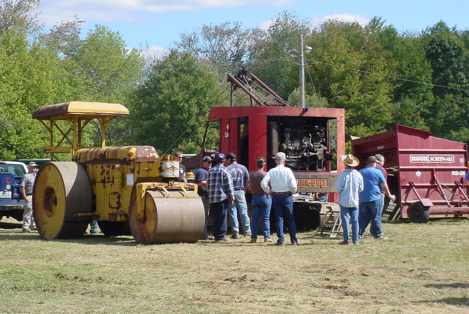 Historical constuction equipment on display