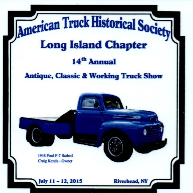 2015 Chapter Truck Show Dash Plaque 8 Remaining - .50ea.