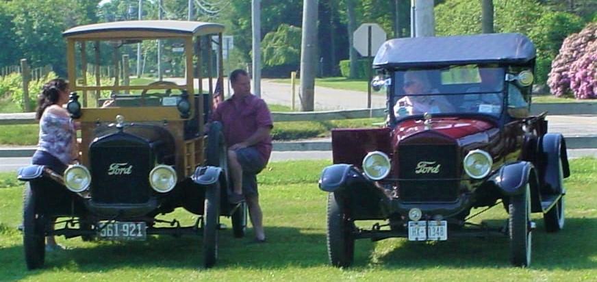 James Tavernese's 1924 Ford Model T depot hack & Joe Tavernese's  1926 Ford Model T roadster pickup