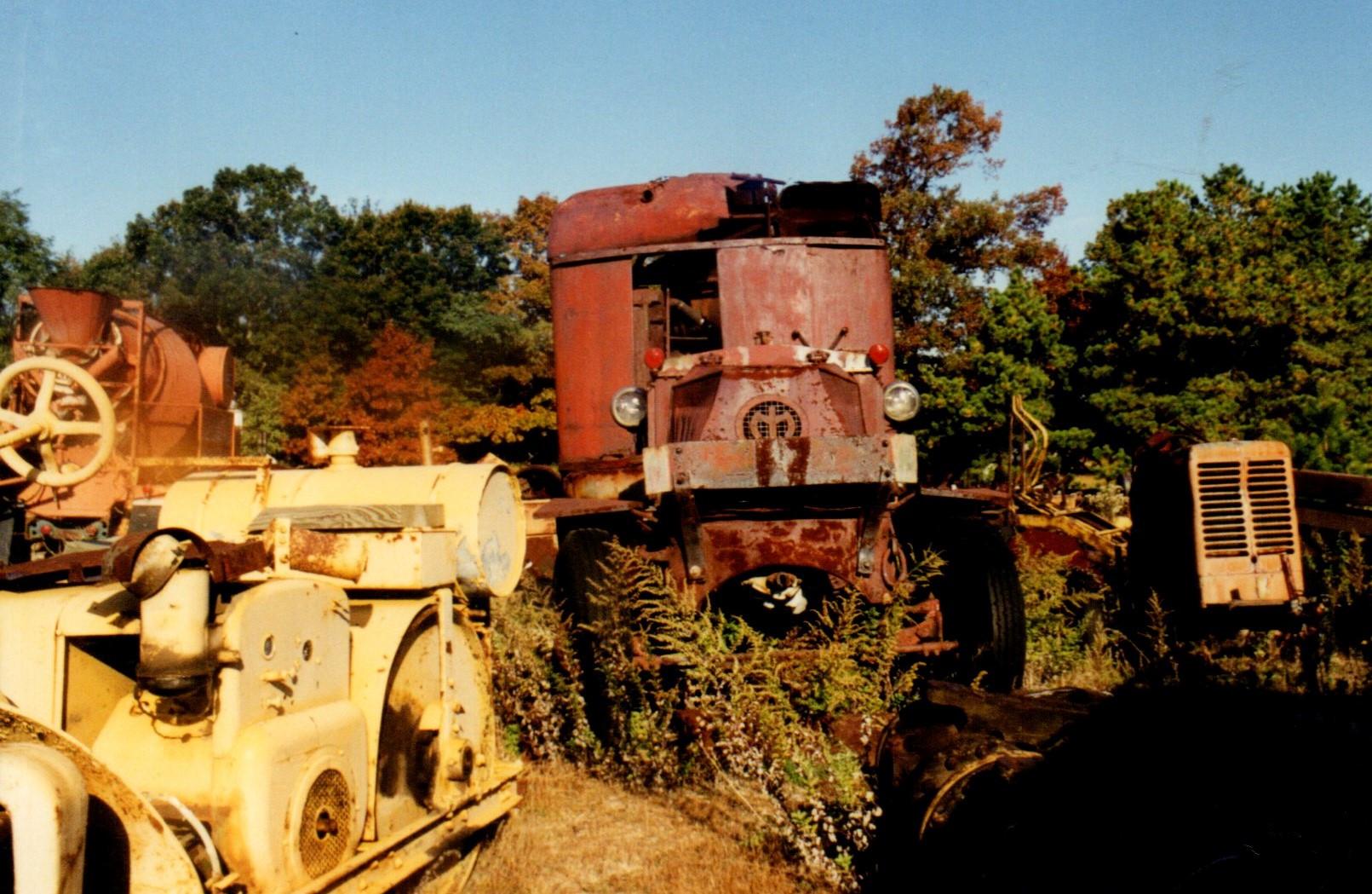 Old roller & an AC Mack Crane