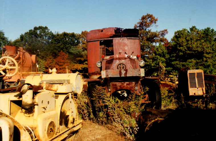 Old roller & an AC Mack Crane