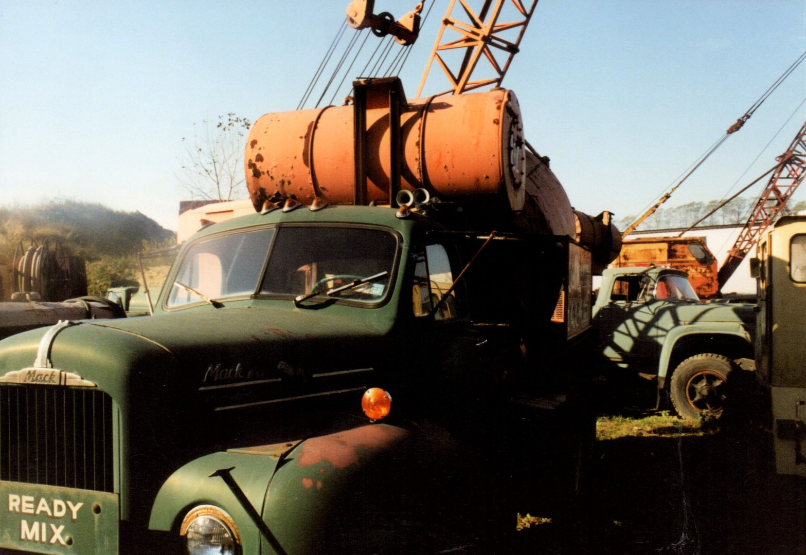 Mack & Ford transit mix trucks