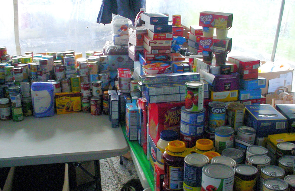 Portion of the food collected for the needy
