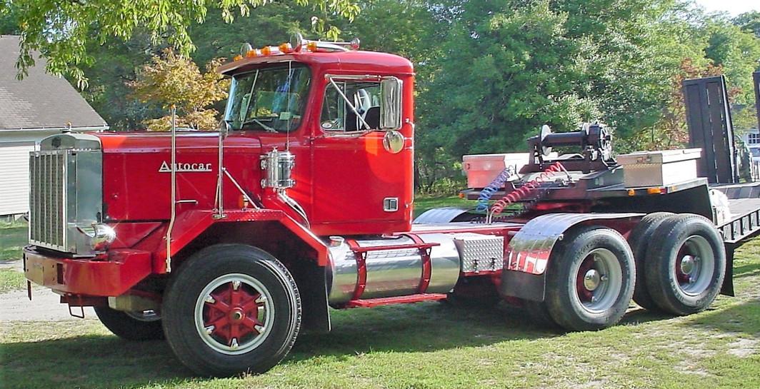 F. Paul Zebrowski's 1984 Autocar DK-64B tractor & 1982 Phelan TL trailer