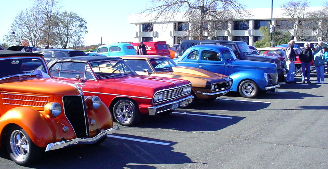 Different types of cars at the show