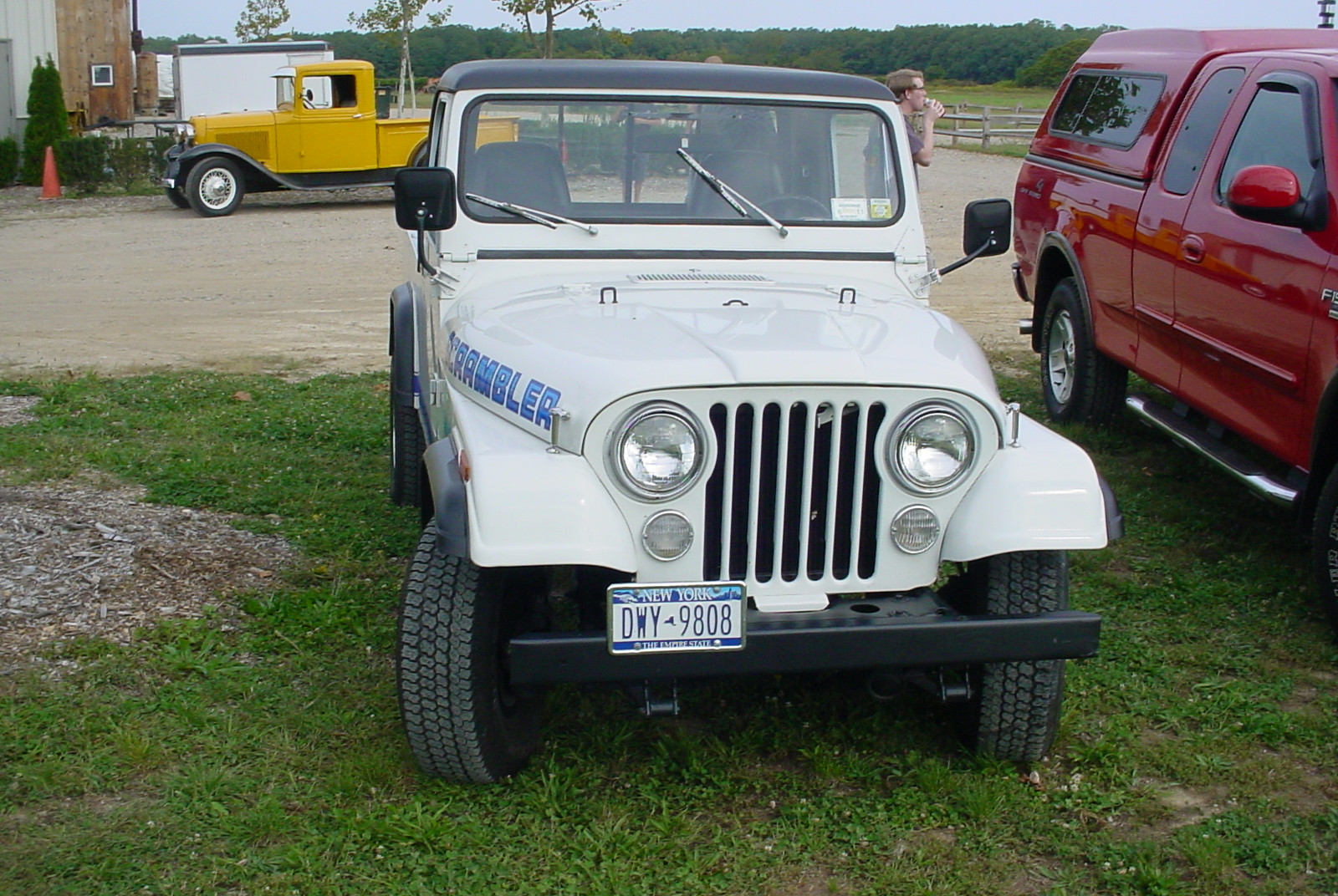 Philip Huntington's 1984 Jeep CJ-8 Scrambler pickup & Ron Bruschi's 1933 Ford pickup