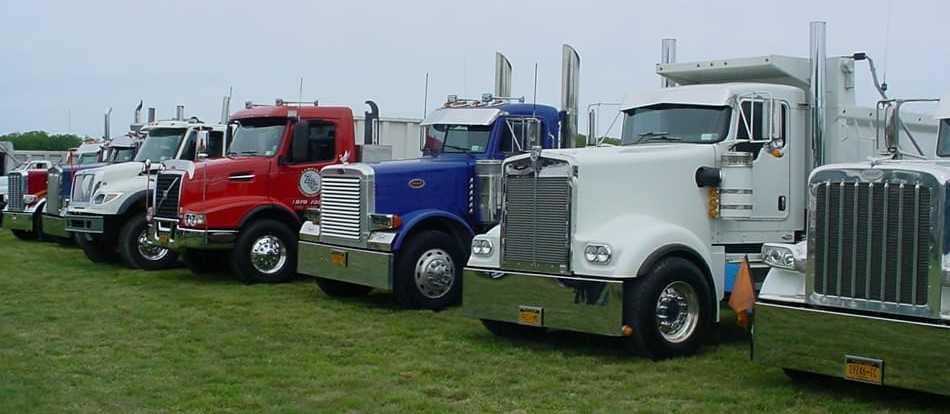 Big rigs in line