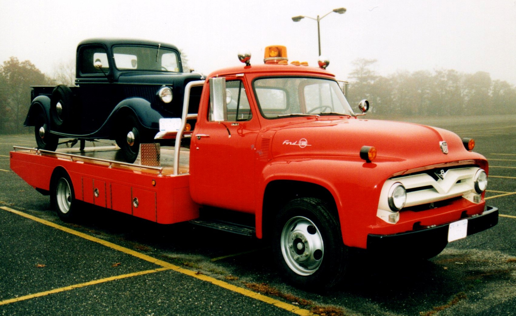 Floyd Chivvis' 1936 Ford pickup & 1955 Ford flatbed
