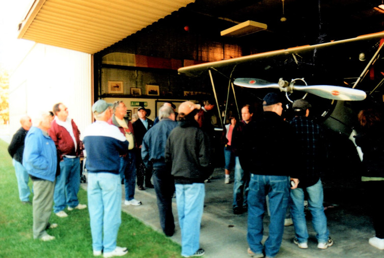 Member's touring the hangers