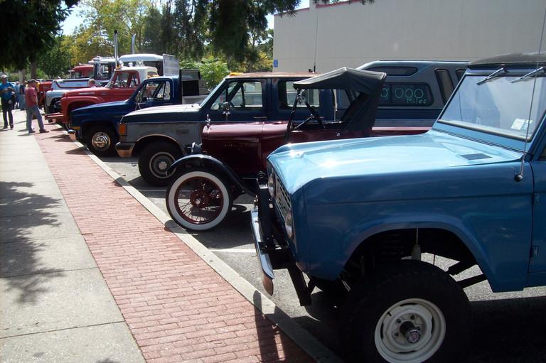 Member's trucks at the aquarium