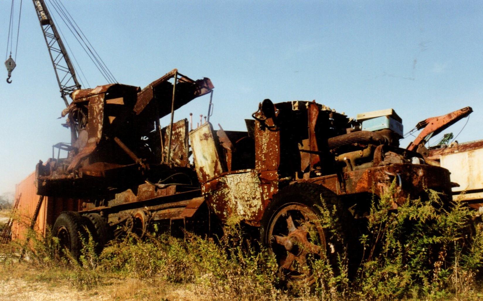 Remains of an AC Mack crane
