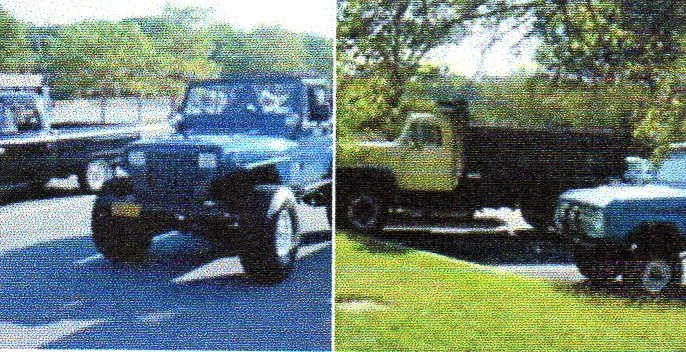 Jonathan Erb's 1988 Jeep, Brent Robedee's 1965 Ford, Ron Bruschi's 1966 Bronco, & Craig Kenda's 1962 International