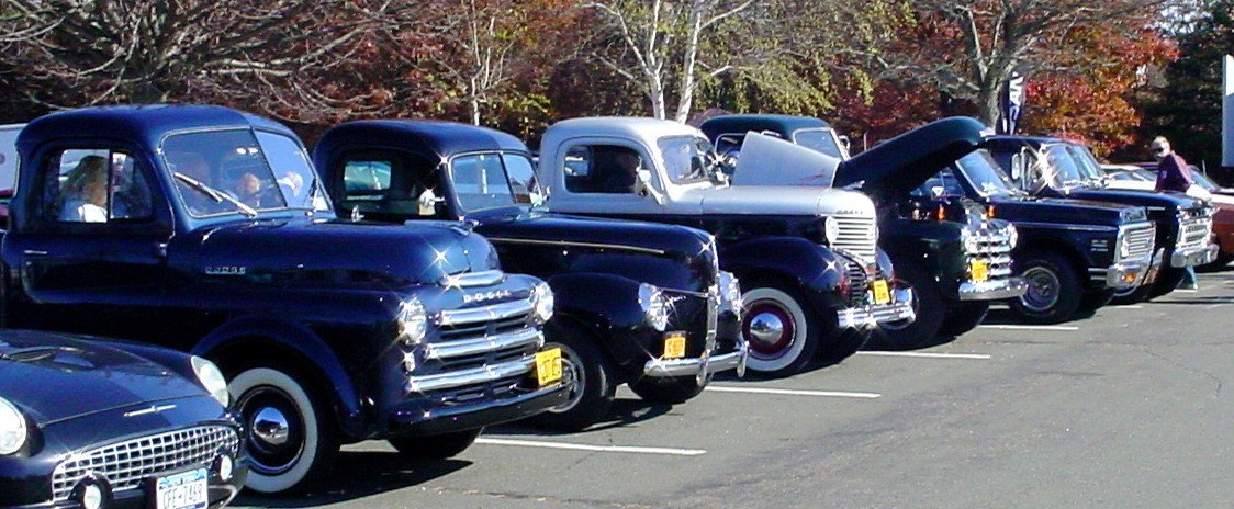 Line-up of member's trucks