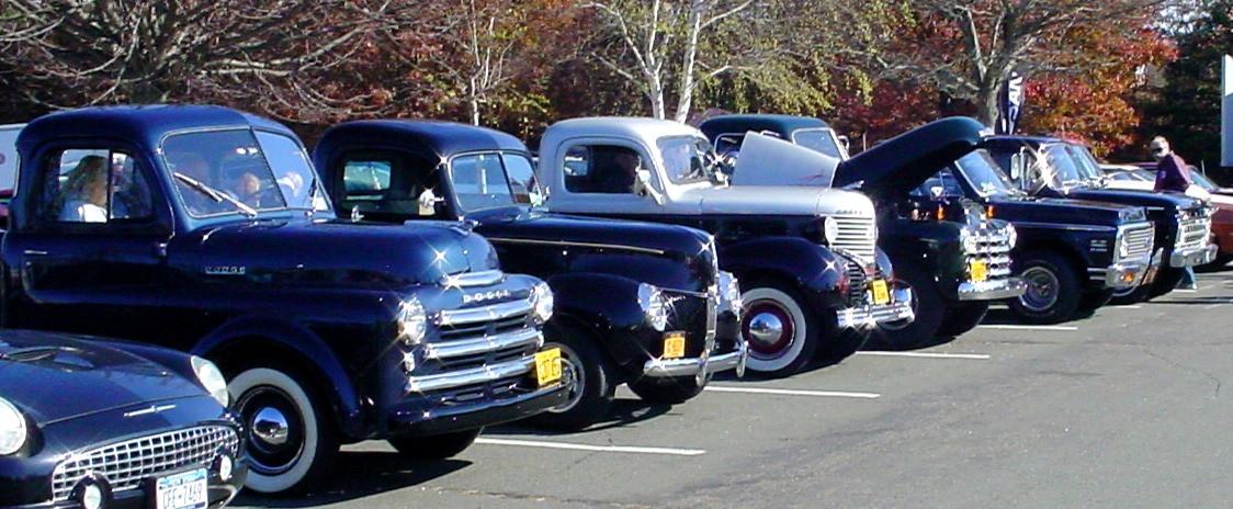 Line-up of member's trucks