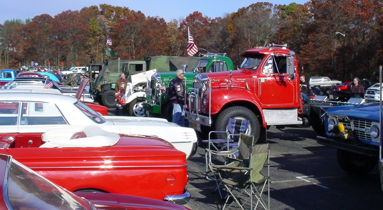 Lineup of member's trucks