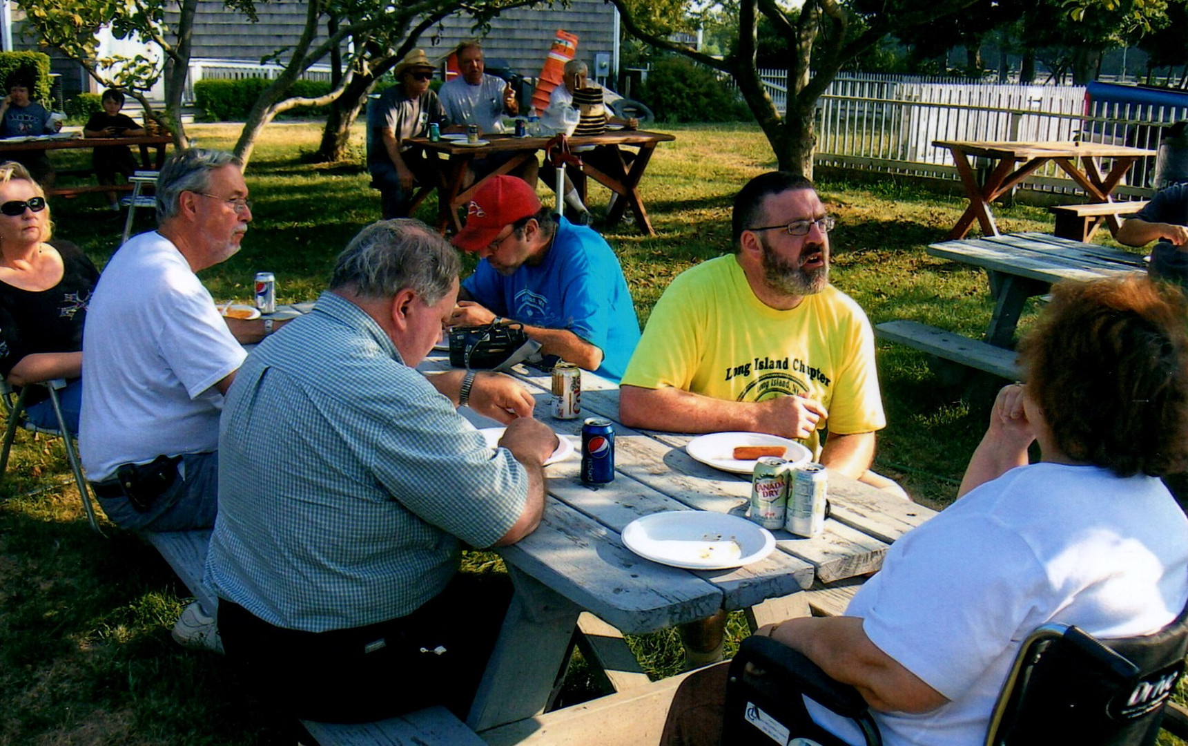 Chapter members at the picnic