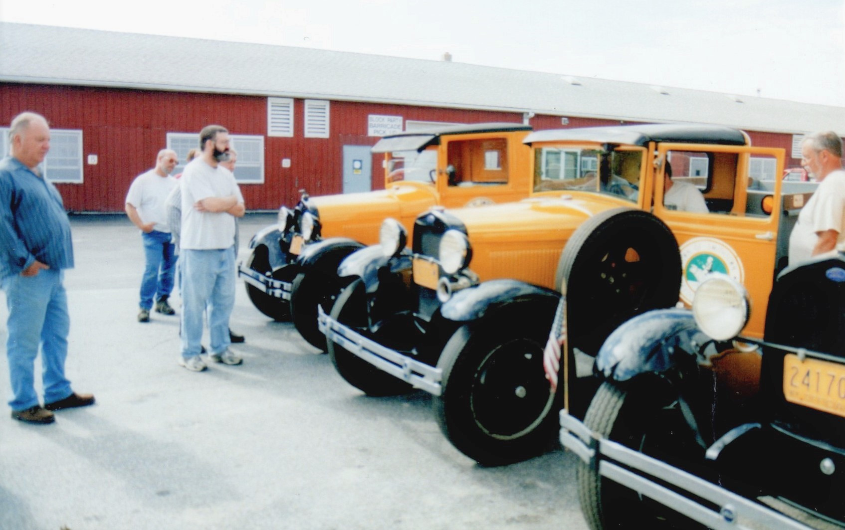 Line up of the two 1929 and the 1931 Ford model A's, missing is the 1926 Graham dump.
