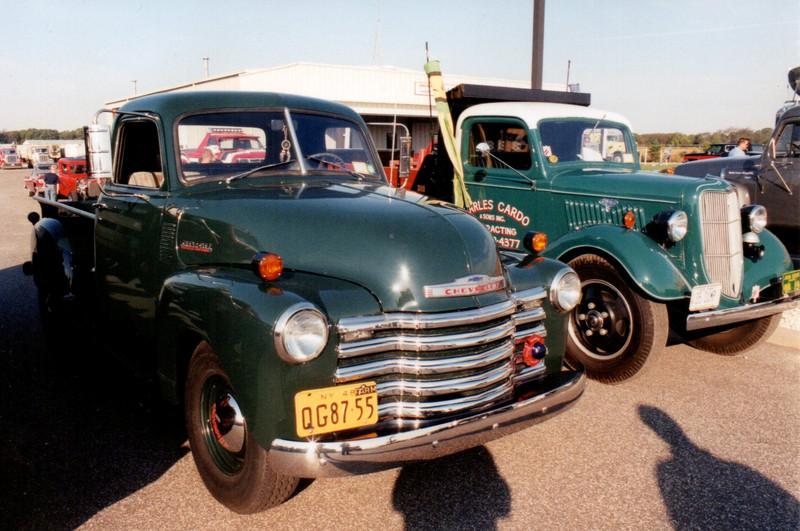 Jude Petroski's 1948 Chevrolet pickup & Carl Cardo's 1935 Ford dump