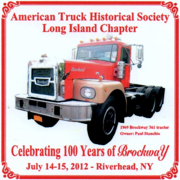 2012 Chapter Truck Show Dash Plaque 15 Remaining - .50ea.