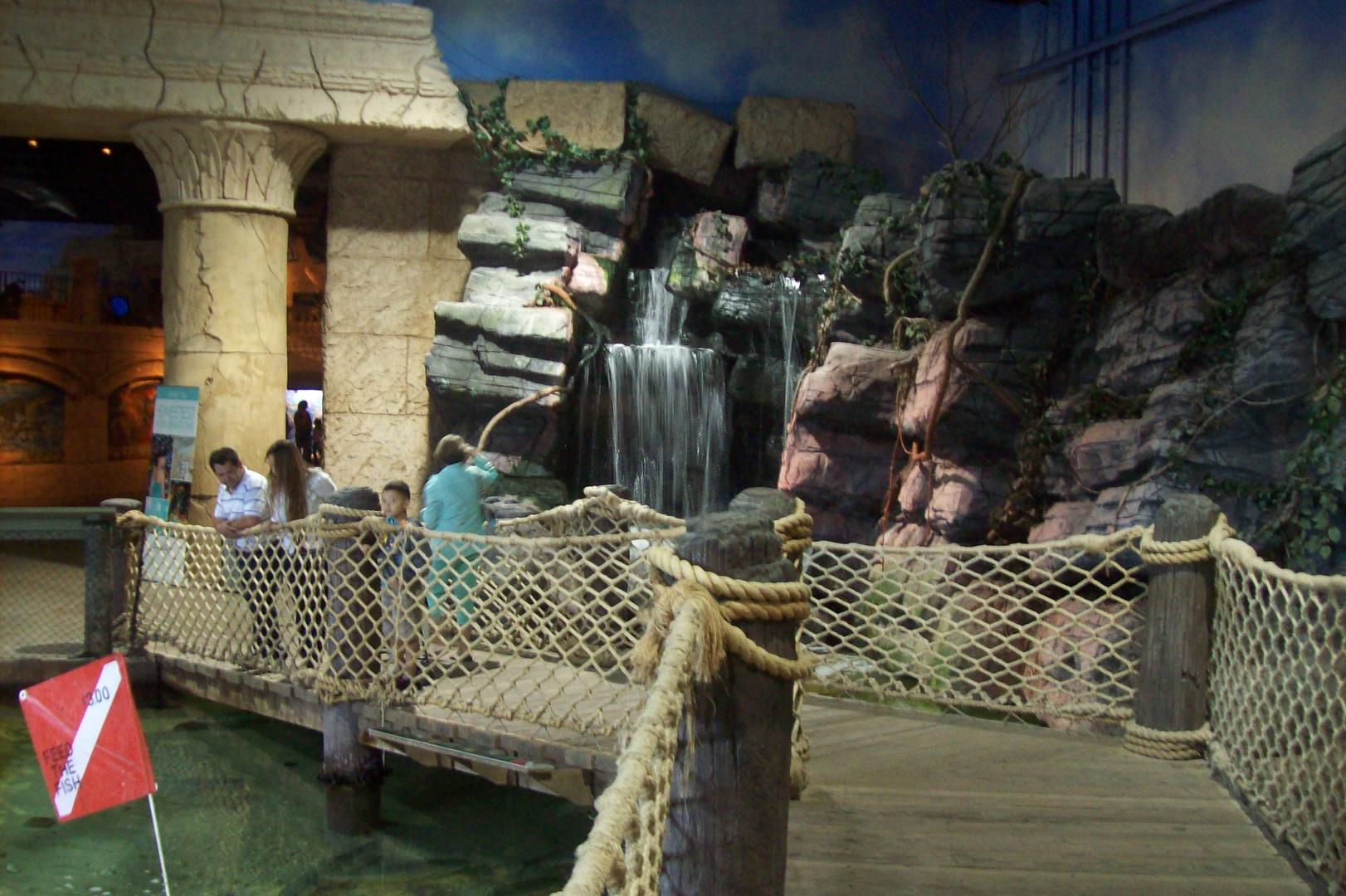 Interior of aquarium