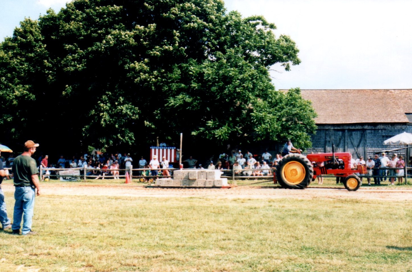 Tractor on the pulling track
