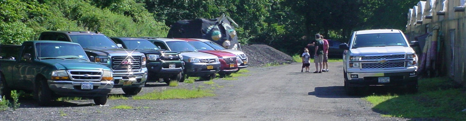 Line up of member's & guest's modern vehicles